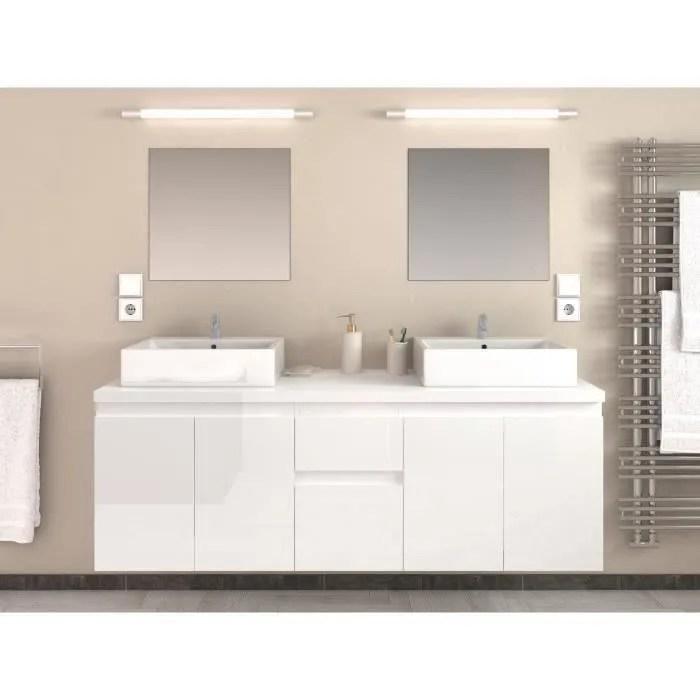 cina ensemble salle de bain double vasque l 150 cm