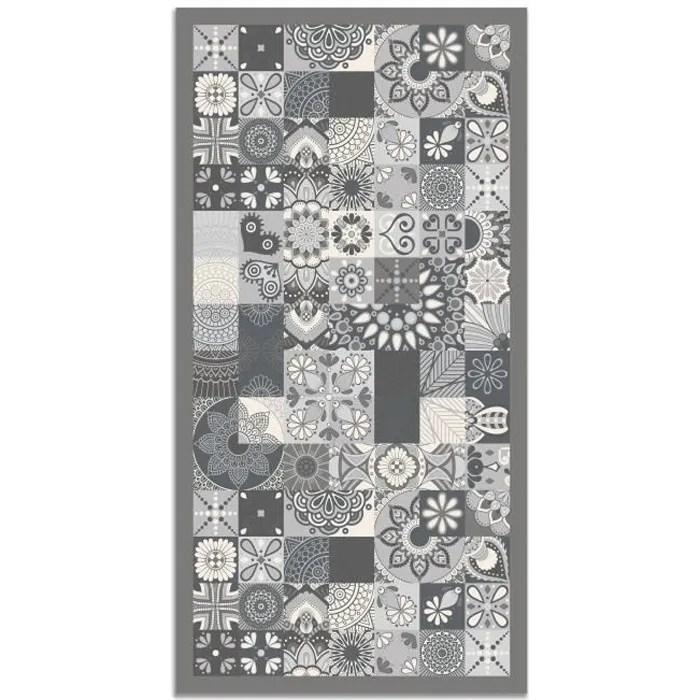 panorama tapis du sol vinyle carreaux de ciments cuisine gris 200 x 200 cm tapis de cuisine en pvc linoleum vinyle antiderapant