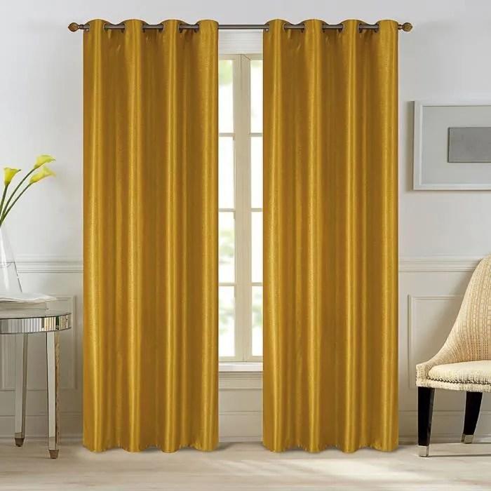 rideau geometrique jaune
