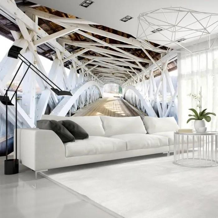 Papier Peint Trompe L Oeil 3d Et Perspective Moderne Mesure 250x175 Old Bridge Cdiscount Bricolage