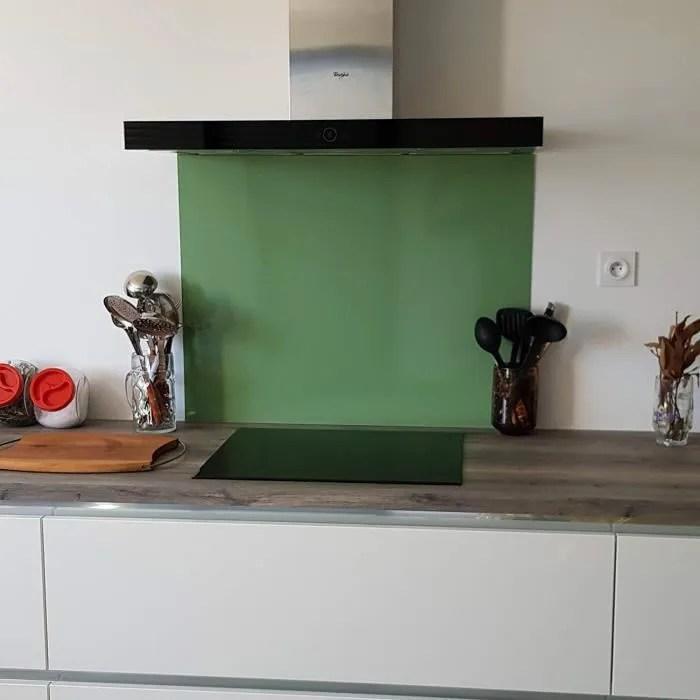 credence aluminium vert pale h 30 cm x l 140 cm fond de hotte