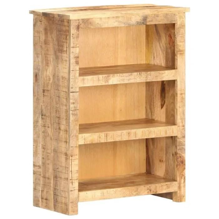 bibliotheque bois brut