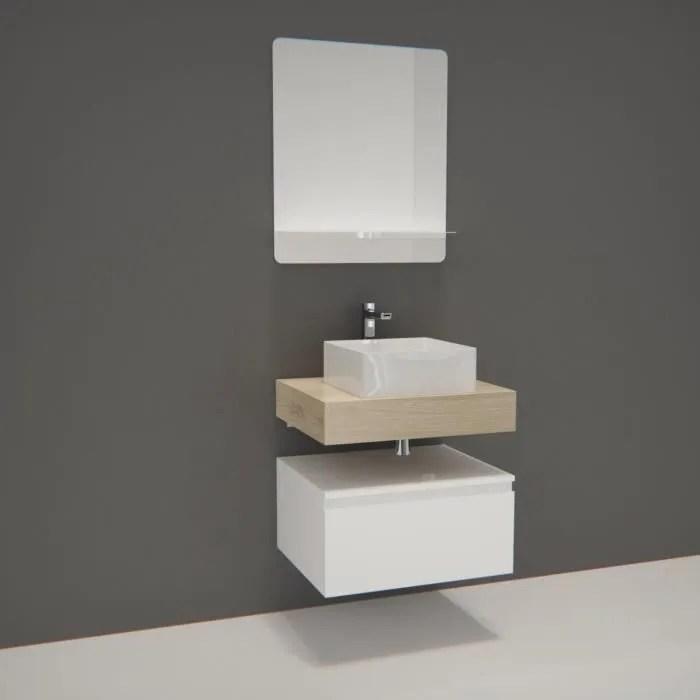 meuble de salle de bain will plan suspendu 60 cm