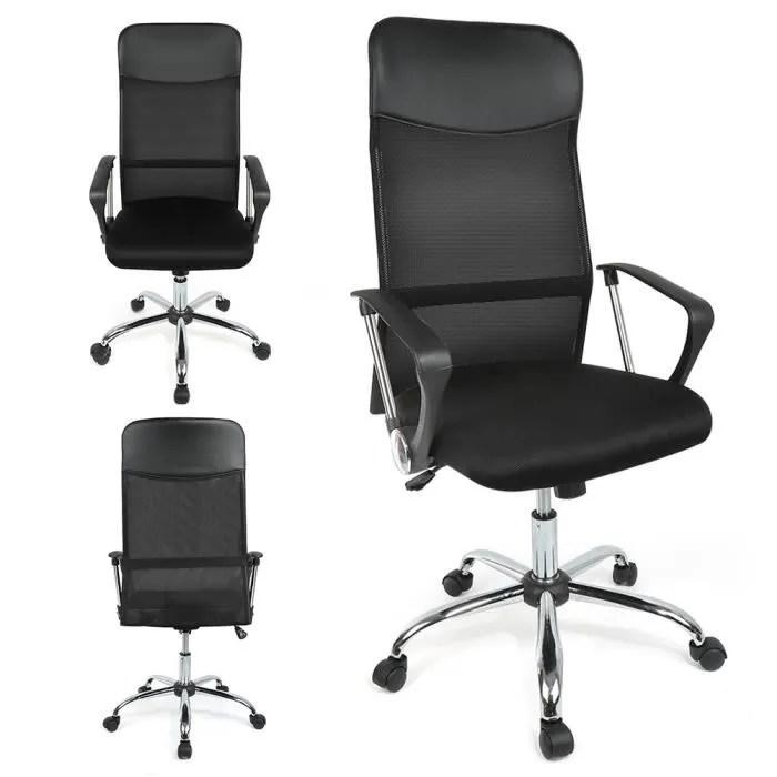 fauteuil de bureau en cuir veritable