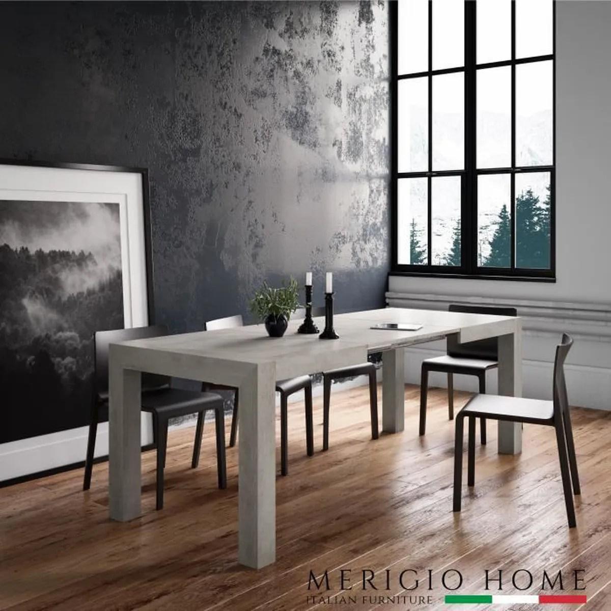 table extensible salle a manger gris