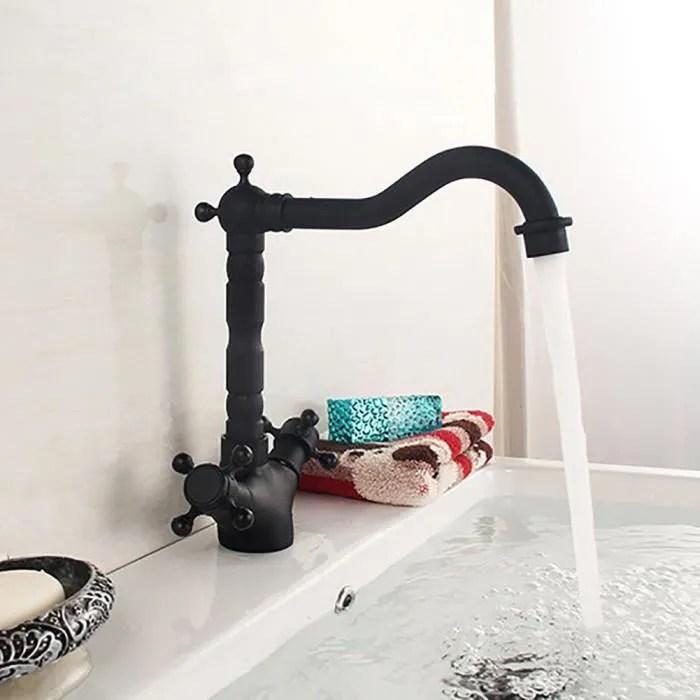 robinet style europeen laiton vintage evier salle de bains cuisine melangeur noir g1 2