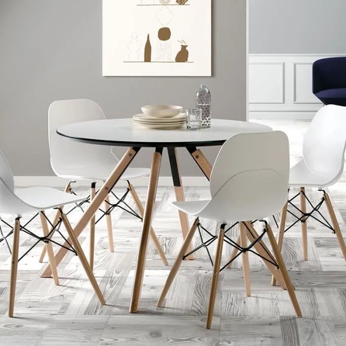 table a manger scandinave ronde blanche