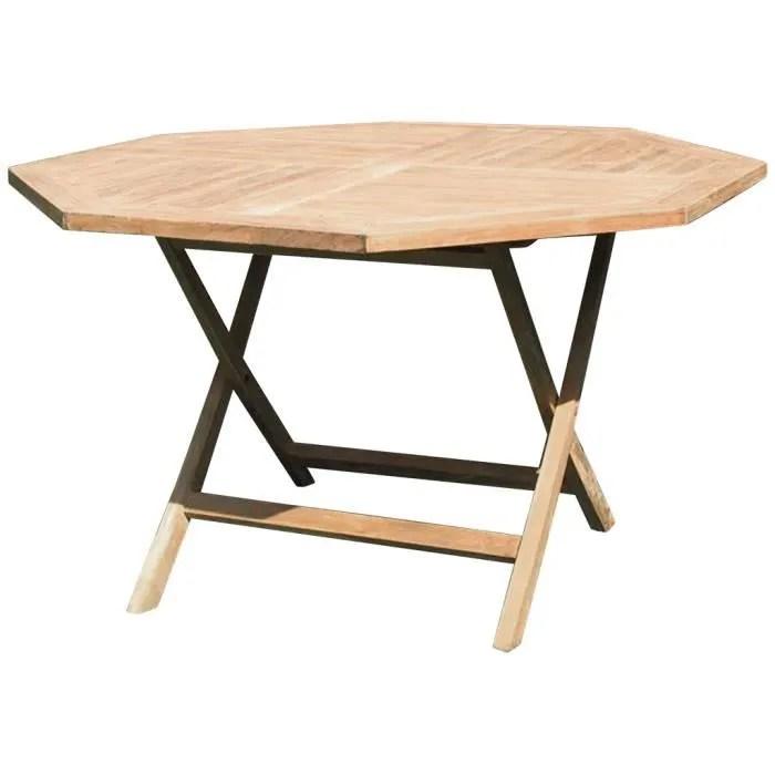 table octogonale pliante pati