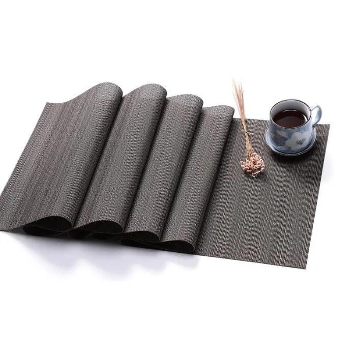 pvc chemin de table en texture bambou de couleur unie antiderapant set de table pour decoration de maison mariage 30x180cm noir