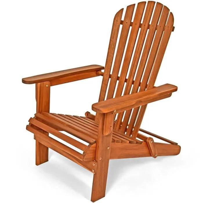 mobel chaise longue pliable en bois d