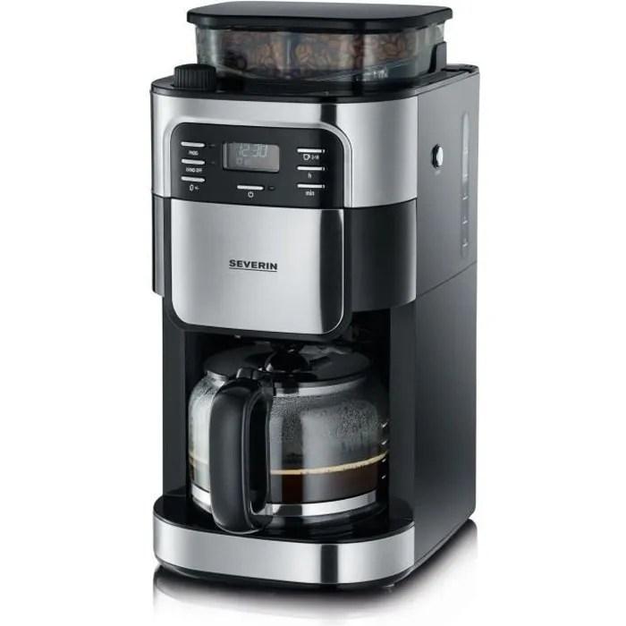 Severin 4810 Cafetiere Filtre Avec Broyeur Integre Noir Et Inox 1000w 1 4 L Cdiscount Electromenager