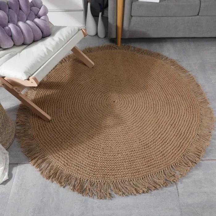 tapis rond naturel