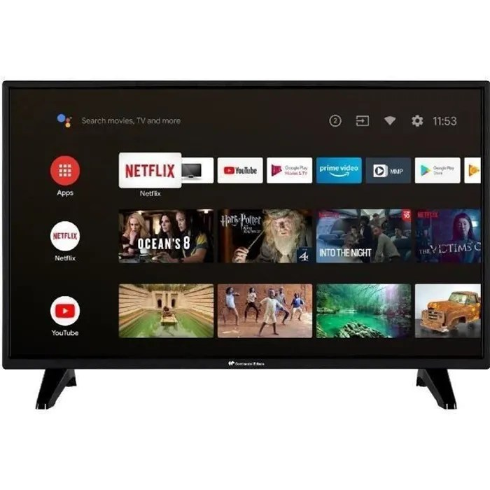 continental edison android tv led hd 32 80 cm wifi bluetooth hdmix2 usbx2 commande vocale