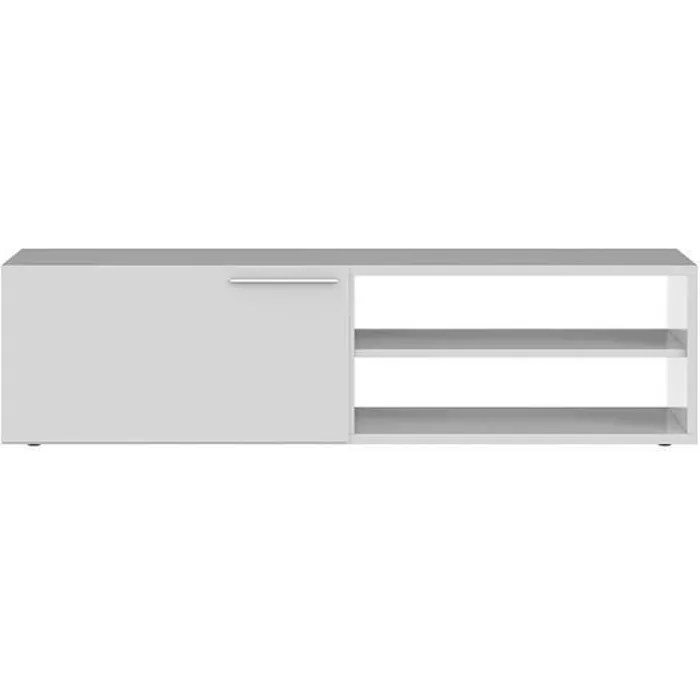 kikua meuble tv contemporain blanc brillant l 13