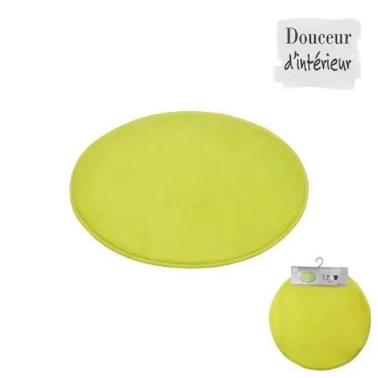 tapis de bain rond vert anis diametre