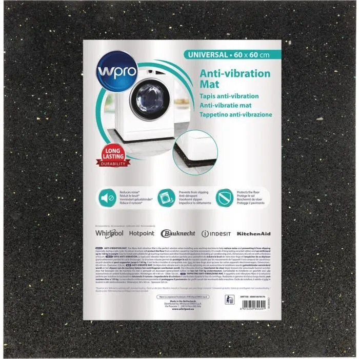 wpro ant100 tapis anti vibration pour lave linge