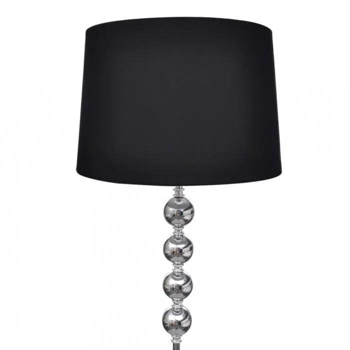 lampadaires lampe de sol a long pied avec 4 boules de decoration noir