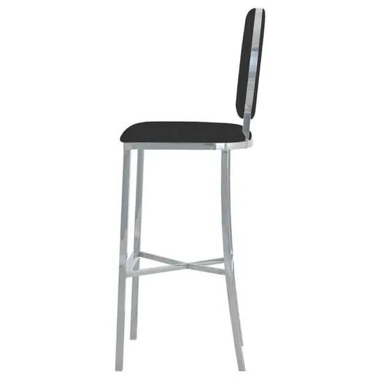 lot de 2 chaises de bar medaillon sofia velours noir