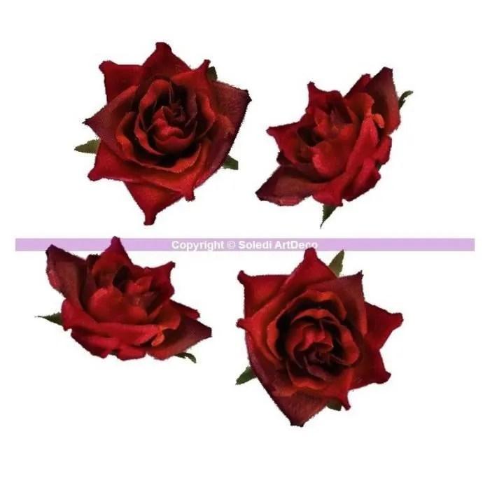 tete roses rouges artificielles