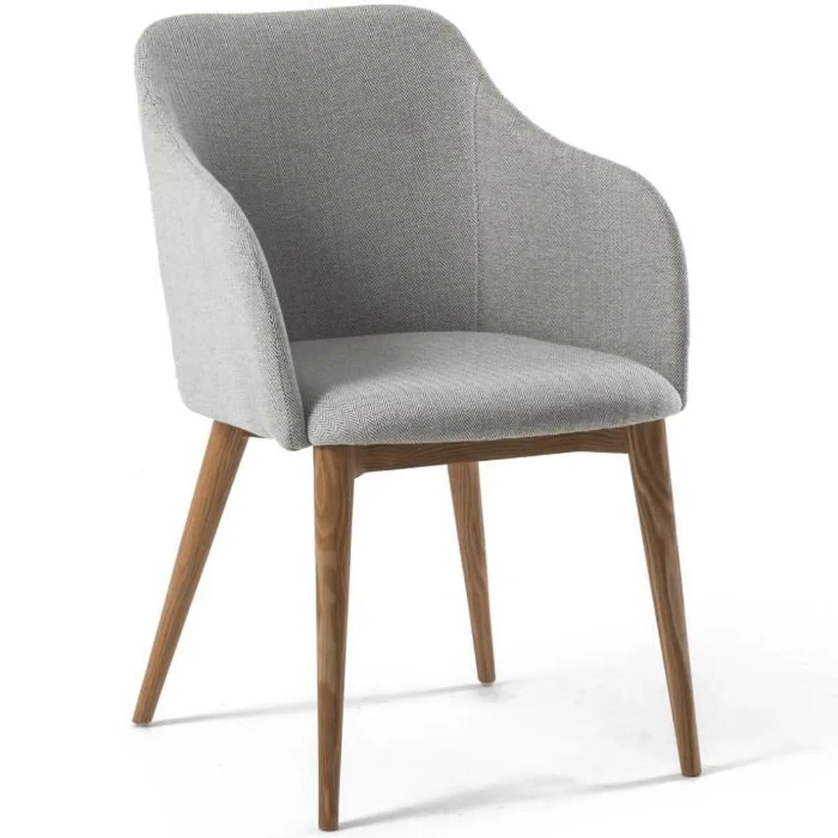 Chaise Avec Accoudoir Design Scandinave Varm Gris Clair Achat