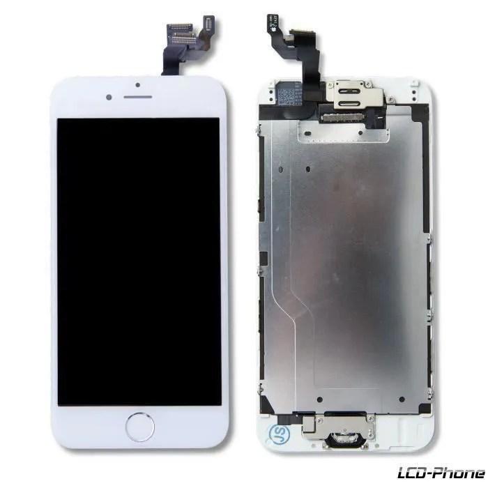ecran complet iphone 6 blanc vitre tactile lcd
