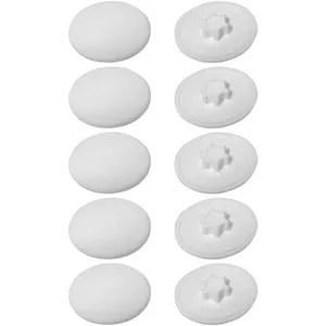 cache vis blanc