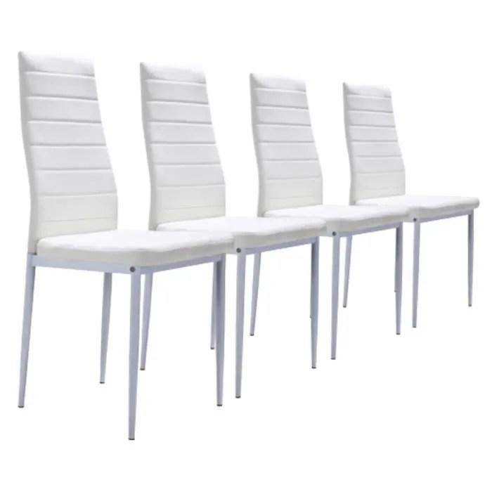 lot de 4 chaises blanches achat