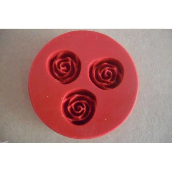 moule en silicone 1 motif 3 rose pour pate a sucre d amande