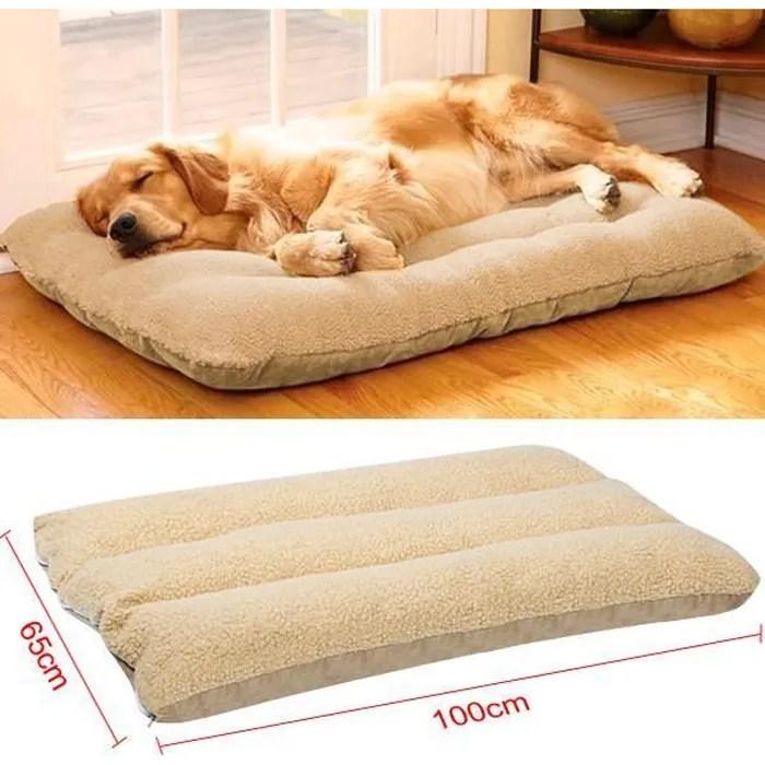 yaheetech lit tapis coussin lavable pour chien chi