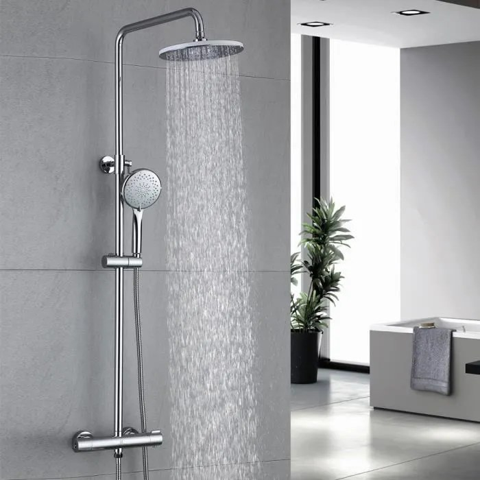 colonne de douche avec mitigeur thermostatique ens