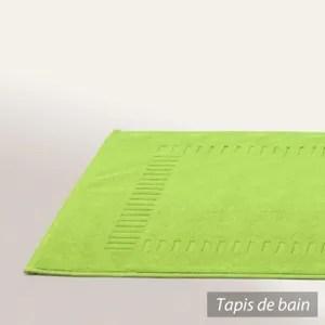 tapis de bain vert anis