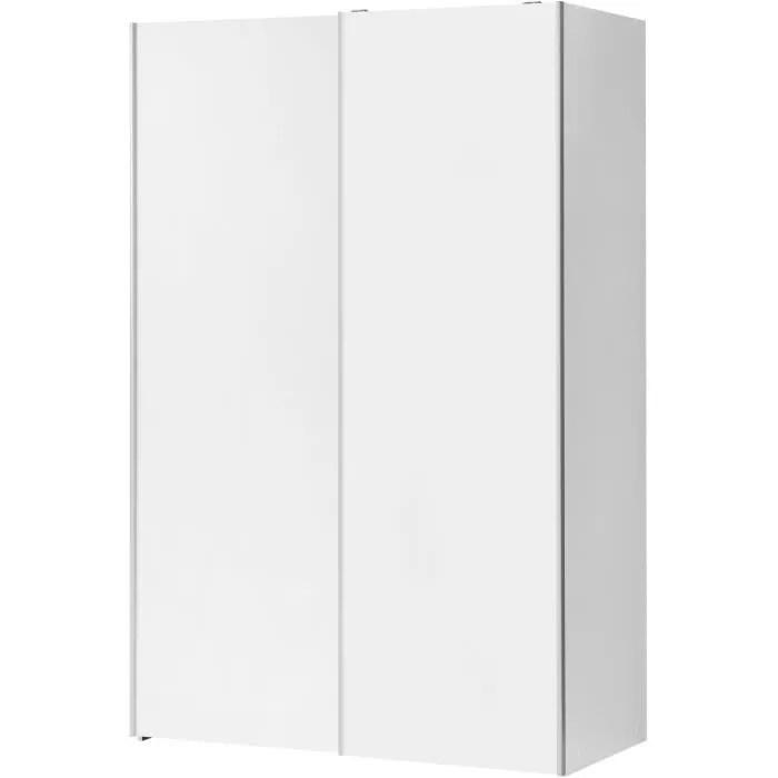 armoire 2 portes coulissantes blanc