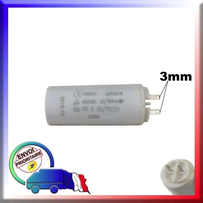 Condensateur De Demarrage 4uf Moteur Volet Roulant Somfy Cdiscount Bricolage