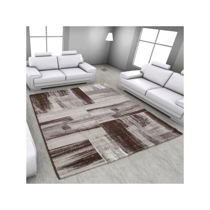moderne salon tapis lima 1350 brun 120x170 cm