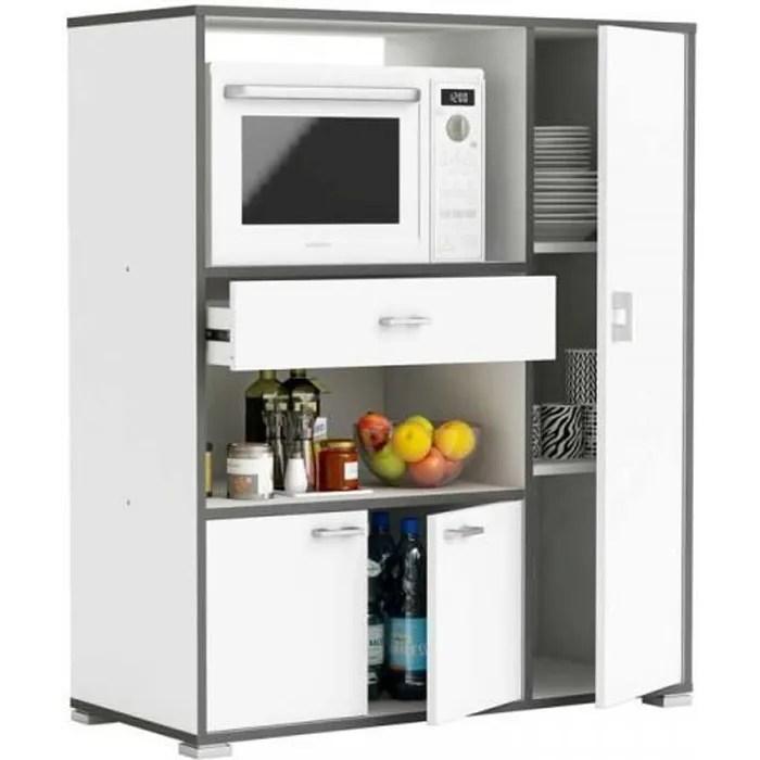 meuble bas de cuisine micro ondes blanc lolipop blanc bois l 90 x l 40 x h 112 cm meuble bas de cuisine
