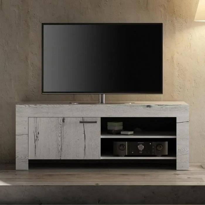 petit meuble tv couleur chene blanchi thelma 2 l 1