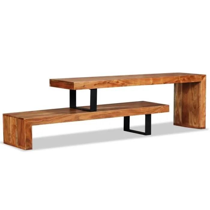 meuble tv meuble salon armoire bas scandinave115 x 30 x 40 cmaudio video bois d acacia massif