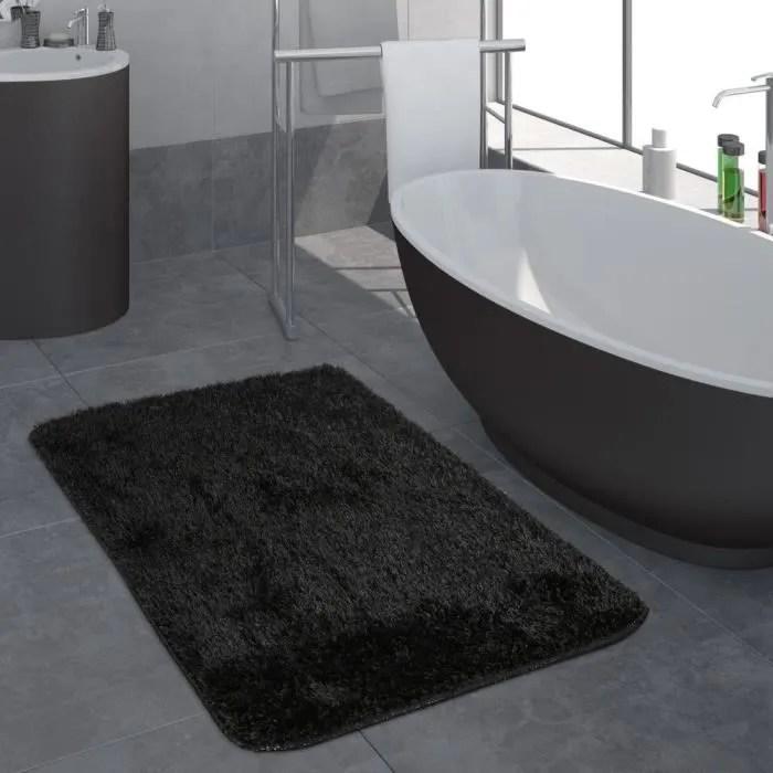 tapis de bains 70x120 antiderapant noir