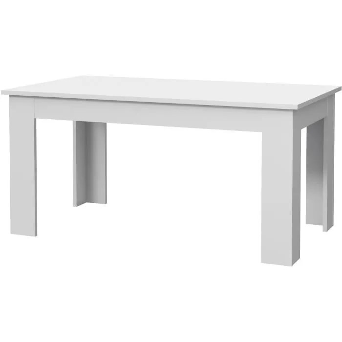 pilvi table a manger blanc l 160 x i90 x h 75 cm