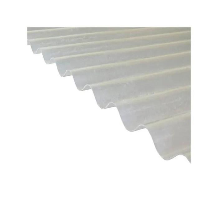 Plaque Polyester Ondulee Toit Translucide L 3 M L 90 Cm Translucide Cdiscount Bricolage