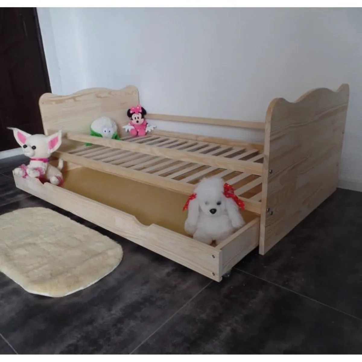 lit enfant 70x140 avec tiroir en pin