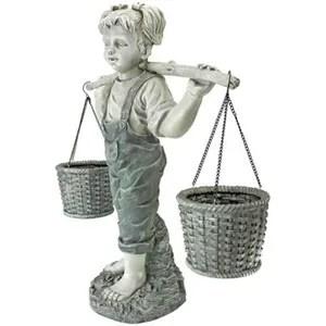 statue de pierre jardin