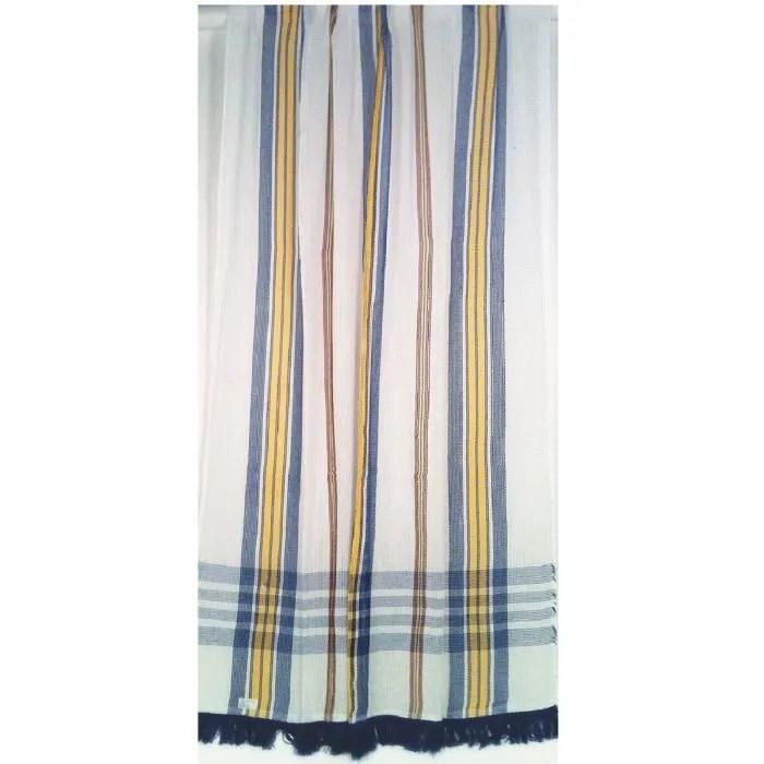 portiere rideau coton marseillais bleu