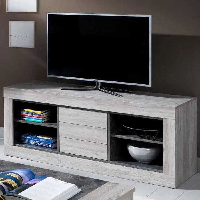 meuble tv moderne 155 cm couleur chene gris anais