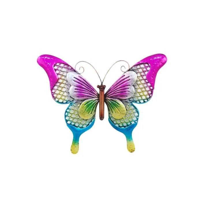 deco murale papillons metal