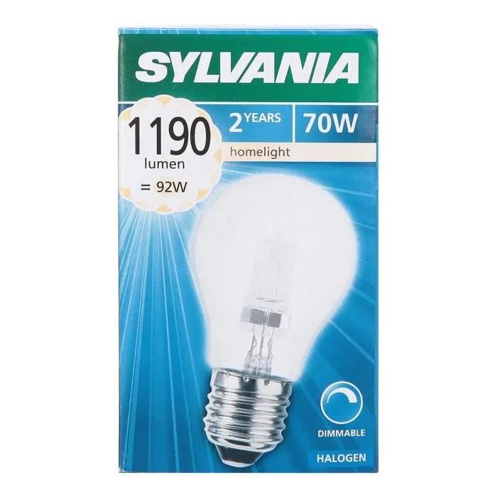 lampe halogene classique eco standard a55 e27 70w