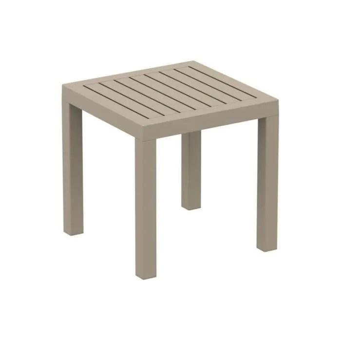petite table de jardin en plastique taupe resistan