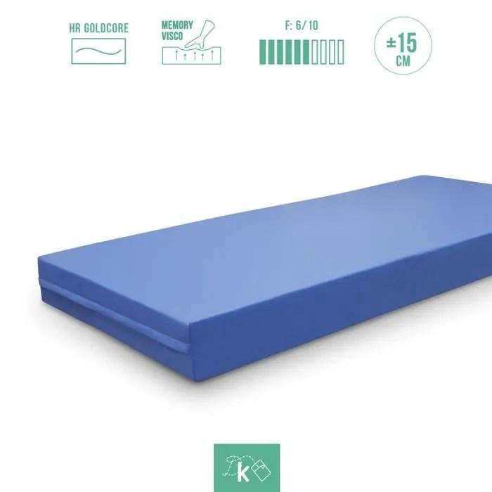 kama haus matelas geriatrique 5cm viscoelastique couverture sanitaire 120x190 cm hauteur 15cm