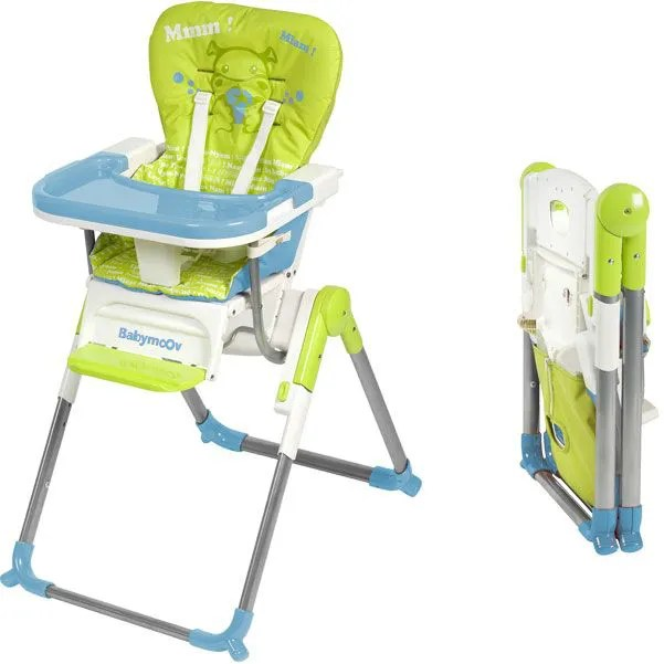Chaise Haute Compacte Slim Vert Bleu Achat Vente Chaise