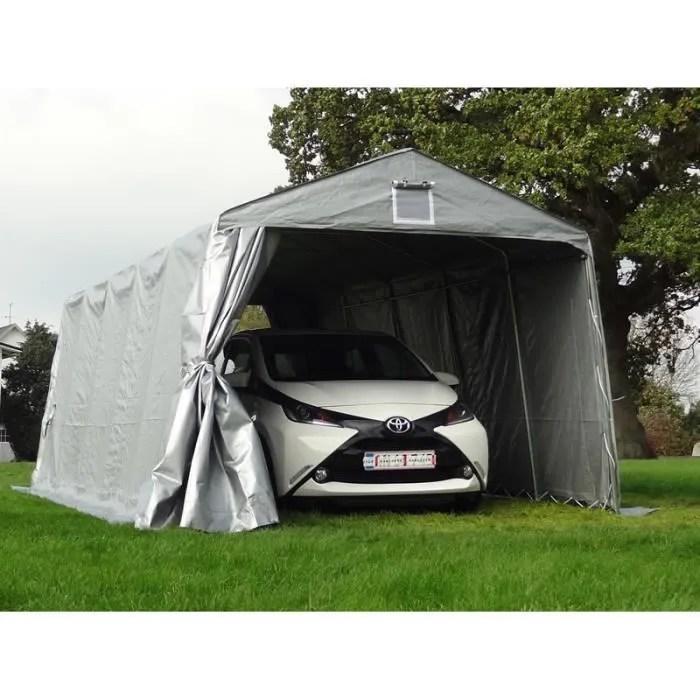tente abri garage basic 3 3x7 2x2 4m pe gris dan